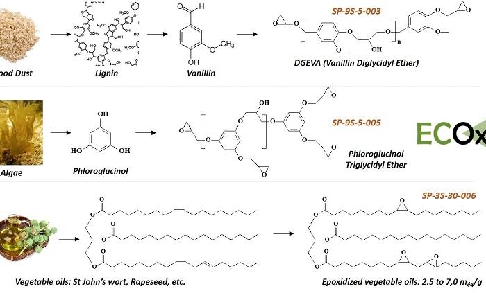 Biobased epoxy precursors